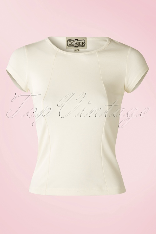 Collectif Clothing Alice Top Cream White 111 50 14387 01WB