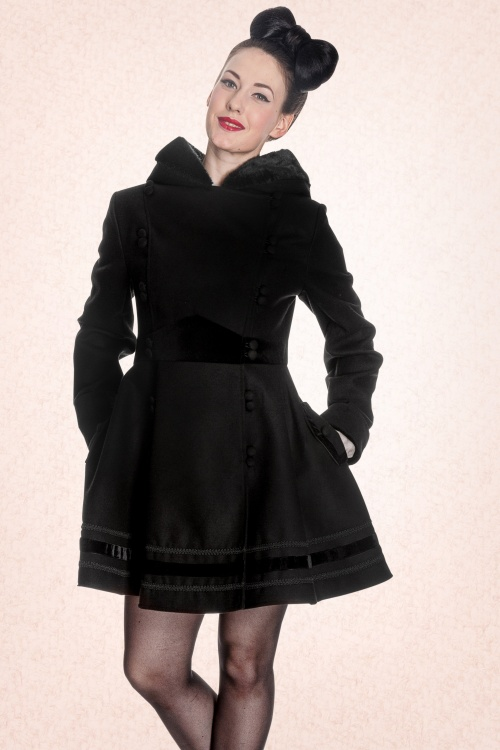 Bunny Black Winter coat 11011 1W