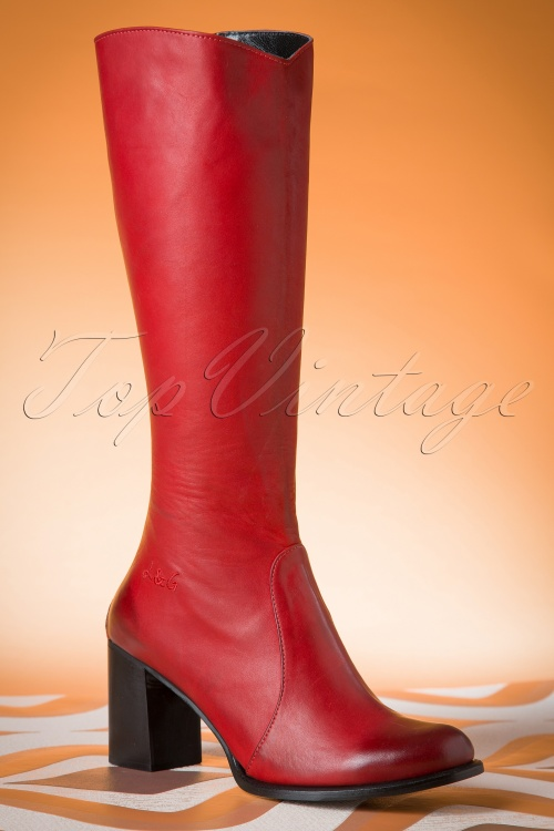 Lien & Giel San Diego Boots in Red 440 20 15761 08182015 06W
