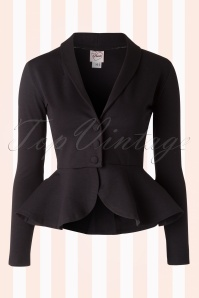 50s Diva Suit Jacket in Black