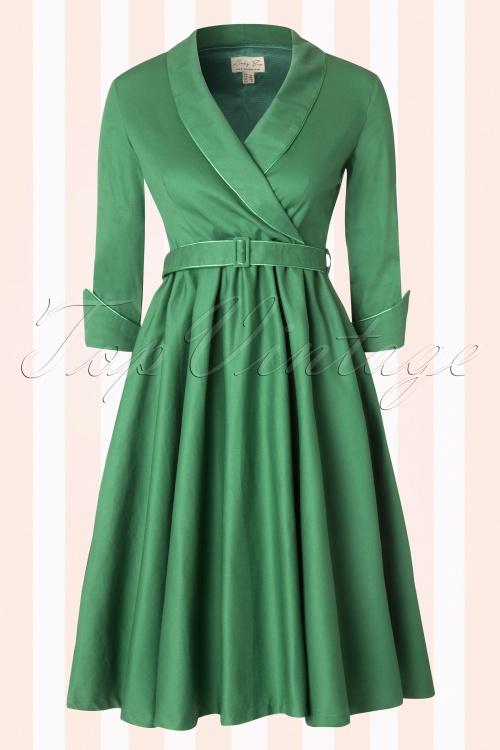 Lindy Bop Classy Green Swing Dress 102 40 16479 20150824 0020W