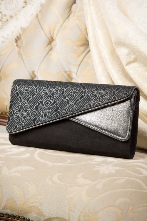 Ruby Shoo Sydney in Black Clutch 211 10 16686 08242015 06W