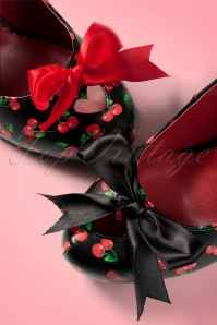 Pinup Couture Cutiepie Cherry Heart cut Satin Bow 10906 20150824 006W