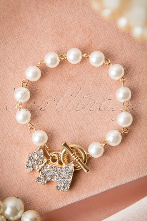 Lola Dog Pearl Bracelet Gold 311 91 16601 08272015 28W