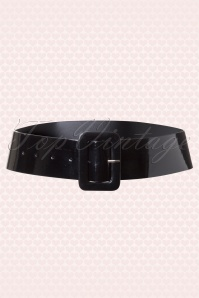 50s Sally Patent Belt in Black