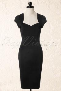 Collectif Clothing Regina Bengaline Pencil Dress Black 14747 20141214 0004