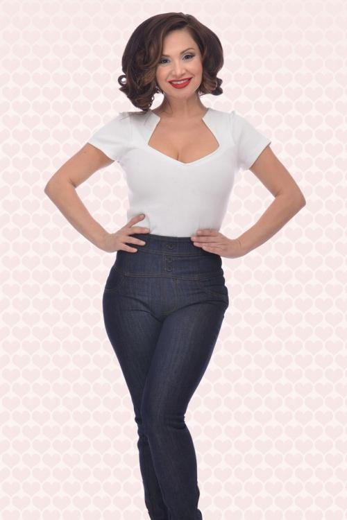 Rock Steady Clothing High Waist Skinny Jeans  131 30 15081 4WB