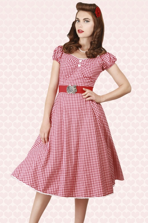 Dolores Sweetheart Gingham Doll DressWB