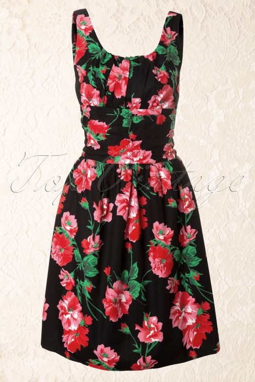 Vixen  Black and red flowers dress 106 14 12088 20131219 0004K