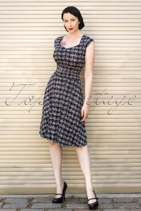 TopVintage exclusive ~ Bicycle Dress en Noir
