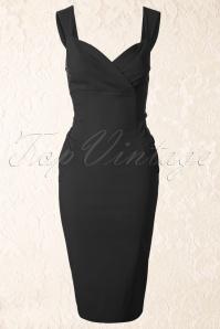 Collectif Clothing  Audrey Pencil Dress Black 100 20 12110 20140113 0003W2