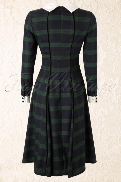 5c32b924f26f Collectif Lisa doll 104 49 11908 20131115 0008A. Lisa Doll Blackwatch Check  Dress