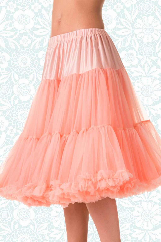 1950s Crinoline, Petticoats & Pettipants 50s Lola Lifeforms Petticoat in Salmon Pink £44.12 AT vintagedancer.com