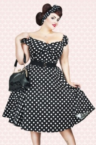 Dolores Doll Polka Black GeorginaWB