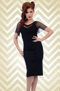 50s Jessie Pencil Dress in Black