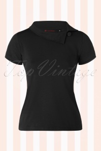 50s Maisie Top in Black
