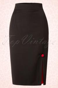 Hulahup Chic Black Red Pencil Skirt 16384 20150625 009W