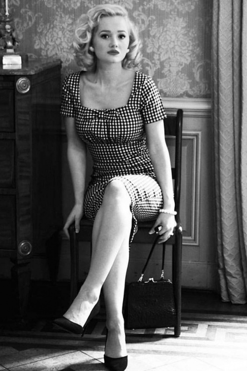 Daisy dapper black white checked dress 100 14 16038 1