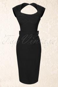 WStop Staring Black Pencil Love Bow Dress 100 10 16346 1