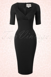 Collectif Clothing Trixie Black Pencil Dress 16111 20150624 0005W