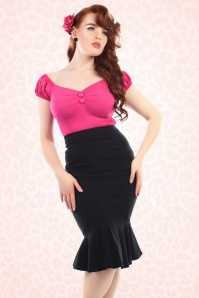 2Collectif Clothing Winifred Black Fishtail Skirt 120 10 16181 1
