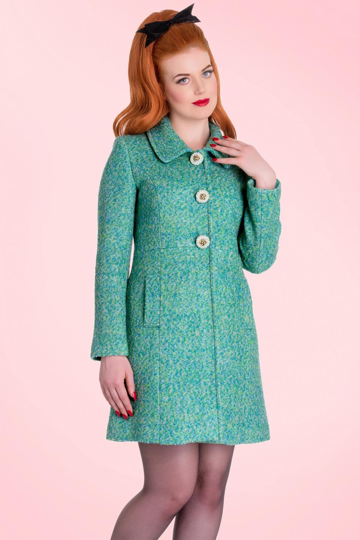 40s Lulu Coat in Green Wool
