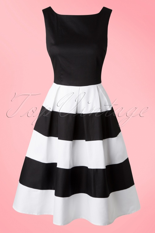 Dolly and Dotty Anna White Striped Swing Dress 102 50 17004 20150922 0005W