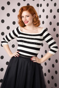 50s Marina Jumper in Black