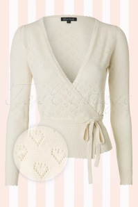 King Louie  Wrap Heart Cardigan Cream 110 57 12277 20140115 0002 1WB1
