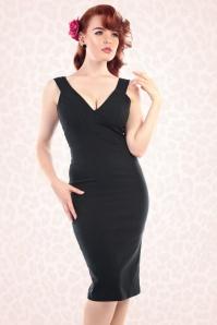50s Mel Pencil Dress in Black