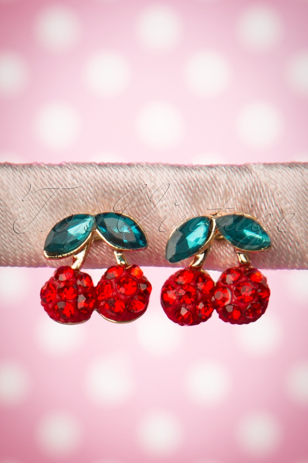 50s Jewelry: Earrings, Necklace, Brooch, Bracelet 50s Sweet like Cherries Earrings in Red £8.69 AT vintagedancer.com