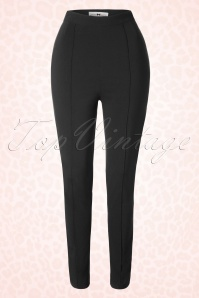 Collectif Clothing Hayworth Skinny Trousers Black 16196 20150624 0007W