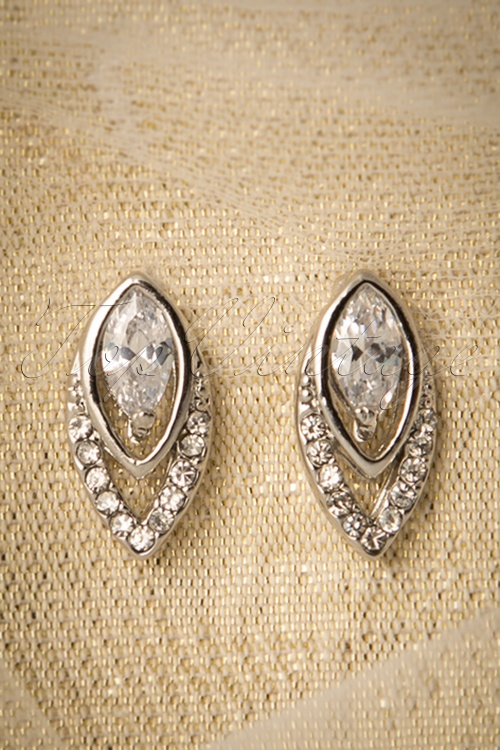 Collectif Clothing Art Deco Diamante Stud 332 92 16216 20150928 0010W