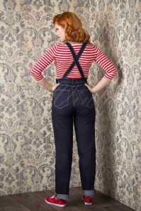 Collectif Clothing Pippa Denim Dungarees Denim Blue 133 30 14344 20150925 0022W