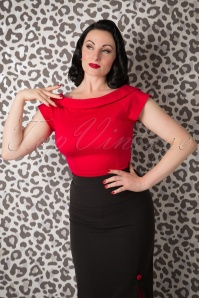 50s Cordelia Top in Red