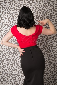 Collectif Clothing Cordelia Top Red 110 20 14832 20150925 0022W
