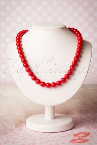 Collectif Clothing Coloured Bead Necklace Red 300 20 16220 20151001 19W