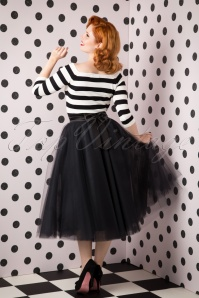 50s Jocelyn Fairytale Skirt in Black