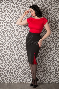 Collectif Clothing Cordelia Top Red 110 20 14832 20150925 0003W