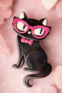 TopVintage exclusive ~ 60s Elissa the Indie Cat Brooch in Black