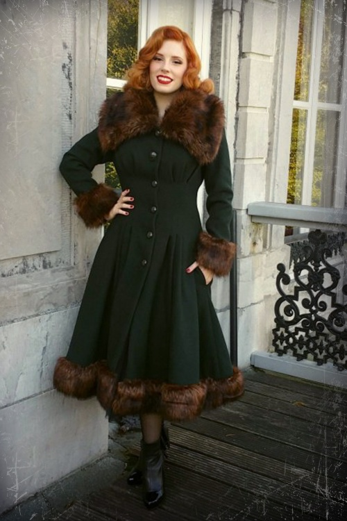 Collectif Clothing Pearl Coat Green 14396 20140616 0005Tel