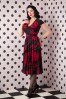 Vintage Chic Veronica Red Flower Dress Black 102 14 15941 20150925 0002W