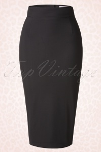 Bettie Page Clothing High Time Black Pencil Skirt 120 10 17239 20151012 0010W