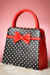 Banned Polkadot Handbag in Black Red 212 14 1703410132015 05W