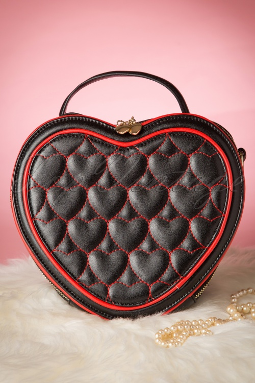 Banned Heart Bag Red Black 212 14 1703210132015 03W