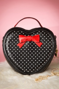 Love at First Sight Bow Handbag Années 1940 en Rouge