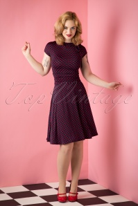 Retrolicious Navy Red Bridget Bombshell Hearts Dress 106 39 12888 20151008 011W