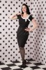 Hulahup Polka Bow Pencil Dress Black 100 10 16377 20150925 0005 WM