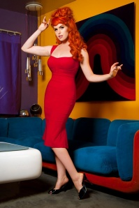 Pinup Couture Jessica Dress Red 10822 2