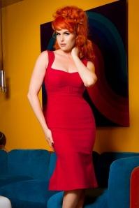 Jessica Wiggle Dress Vintage Red